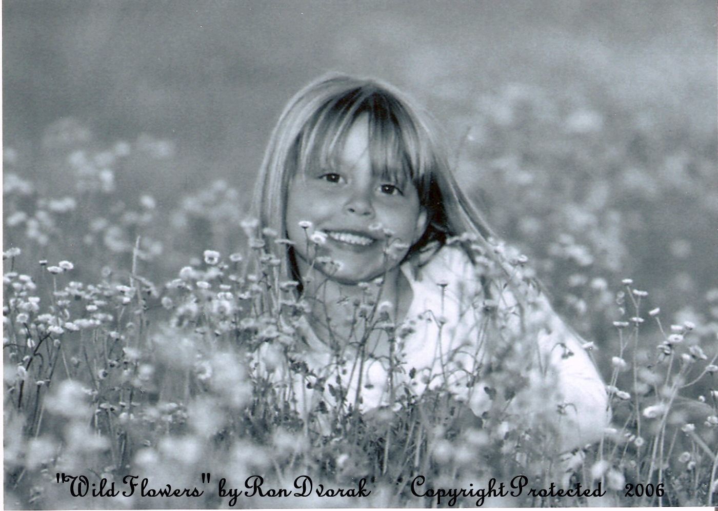 "This Picture of my Daughter ""Madison Rose"" is Titled ""Wild Flowers"" and took Second Place in a Statewide Photo Contest.  I took the Picture, and had it Copywritten, in 2006."